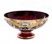 Красная Лепка ваза для фруктов 27см