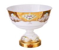 Белая Лепка ваза для фруктов 30см