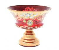 Красная Лепка ваза для конфет 15см