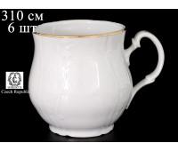 Бернадот Белый Набор кружек Джонас 310мл 6 штук
