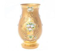 Лепка Золотая Матовая ваза для цветов 22см