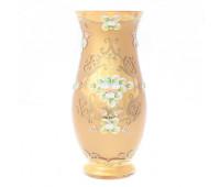 Лепка Золотая Матовая ваза для цветов 30см