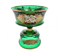 Зеленая Лепка ваза для фруктов 35 см