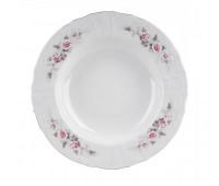 Бернадотт Роза Серая Платина набор тарелок 23см глубоких 6 штук