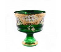 Зеленая Лепка ваза для конфет 20см