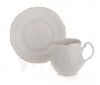 Бернадотт Белый Набор 6 чашек / 6 блюдец 310мл Джонас