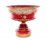 Красная Лепка ваза для фруктов 30см