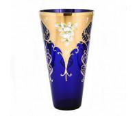 Синяя Лепка ваза для цветов 28см