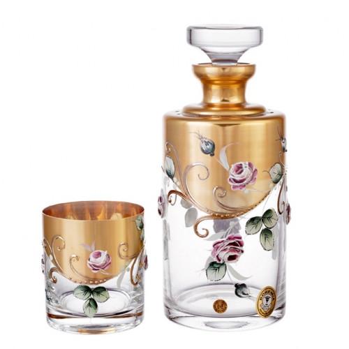 Роза Лепка набор штоф и 6 стаканов 300мл