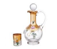 Роза Лепка набор набор штоф и 6 стаканов 60мл