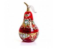Красная Лепка ваза для конфет груша 10см