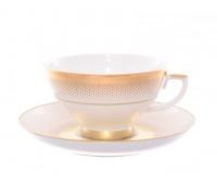 """Falken Porselan """"Рио Голд"""" набор чайных пар 250мл 6 штук"""