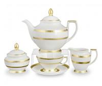 "Falken Porselan ""Констанция Диамонд Голд"" сервиз чайный на 6 персон 15 предметов"