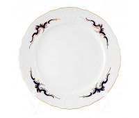 Бернадотт Синие Вензеля набор тарелок 21см 6 штук