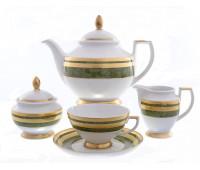 """Falken Porselan """"Грин Голд 9039"""" чайный сервиз на 6 персон 17 предметов"""