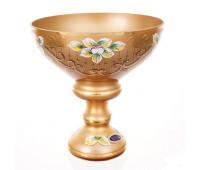 Лепка Золотая Матовая ваза для конфет 20см