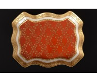 Cattin Красный блюдо прямоугольное 27см