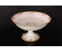 Cattin Розовый Золотой ваза для фруктов 27см на ножке