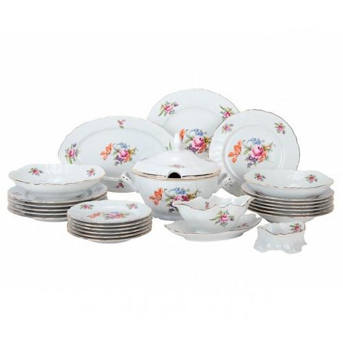 Бернадотт Полевой цветок сервиз столовый на 6 персон из 26-ти предметов