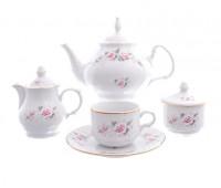 Бернадотт Роза Серая  сервиз чайный на 6 персон 22 предмета