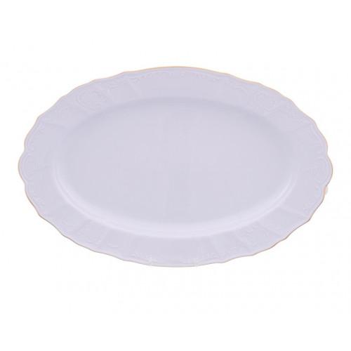 Бернадотт Белый  Блюдо овальное 36см