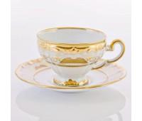 """Веймар """"Золотая Симфония 427"""" набор чашек с блюдцами для кофе 160мл 6 штук"""