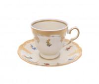 Аляска Карлсбад 5021 набор чашек с блюдцами для кофе 140мл 6 штук