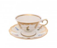Аляска Карлсбад 5021 набор чашек с блюдцами для черного кофе Мокко 100мл 6 штук