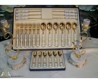 """Веймар """"Кленовый Лист Белый 408"""" набор столовых приборов на 6 персон 24 предмета (Фарфор)"""