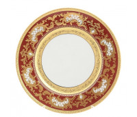 "Falken Porselan ""3D Алена Бордо Голд"" набор тарелок 21см закусочных из 6ти штук"