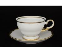 АГ 841 Золотая Полоса набор чайных пар 160мл 6шт