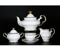 АГ 841 Золотая Полоса чайный сервиз на 6 персон 15 предметов