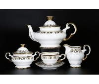 АГ 853 Золотая Роспись чайный сервиз на 6 персон 15 предметов