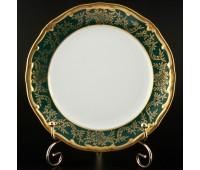"""Веймар """"Ювел Зеленый 876"""" набор тарелок 15см из 6ти штук десертных"""