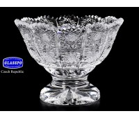 Хрусталь Снежинка Glasspo ваза для варенья 12см