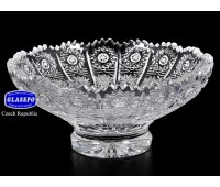 Хрусталь Снежинка Glasspo ваза для варенья 13см