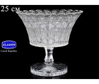 Хрусталь Снежинка Glasspo ваза для фруктов 25см