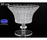 Хрусталь Снежинка Glasspo ваза для фруктов 30см