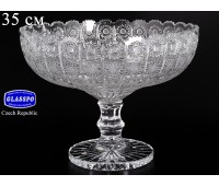 Хрусталь Снежинка Glasspo ваза для фруктов 35см