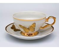 Бабочки 858 набор чашек 230мл с блюдцами 6штук