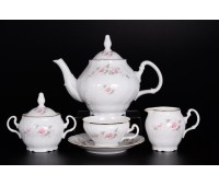 Бернадот Роза Серая  сервиз чайный на 6 персон 15 предметов