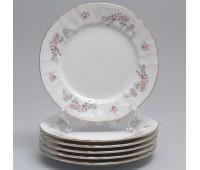 Бернадот Дикая Роза набор тарелок 17см десертных 6 штук