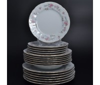 Бернадот Дикая Роза набор тарелок 18 штук