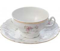 Бернадотт Дикая Роза набор чашек с блюдцами для чая 220мл 6 штук