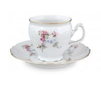 Бернадотт Дикая Роза набор чашек с блюдцами для чая 240мл 6 штук