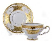 """Веймар """"Кленовый Лист Белый 408"""" набор 6 чашек/6 блюдец 210мл в подарочной упаковке"""