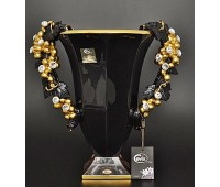 Cevik Group Гроздья винограда черная ваза для цветов высота 36см, диаметр 25см