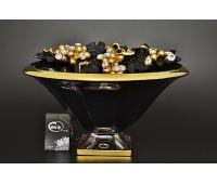 Cevik Group Гроздья винограда черная ваза для фруктов