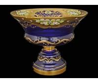 Синяя Лепка E-S ваза для фруктов 30см
