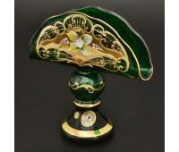 Лепка Зеленая Богатая Салфетница 16см